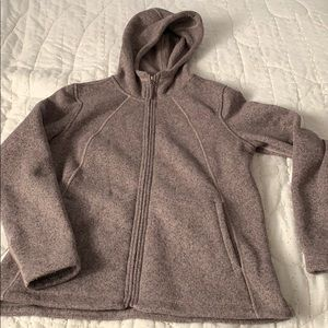 North Face Fleece Coat Soft Mauve Large